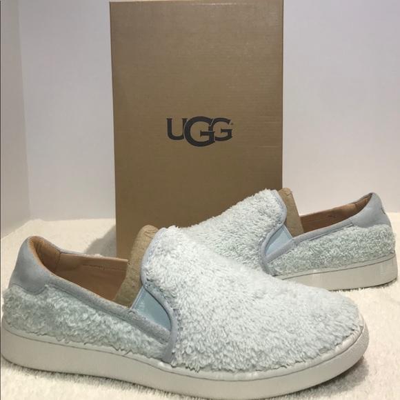 9463655f57e Ugg Ricci Slip On Shoes Furry Fuzz Iceberg Blue NWT